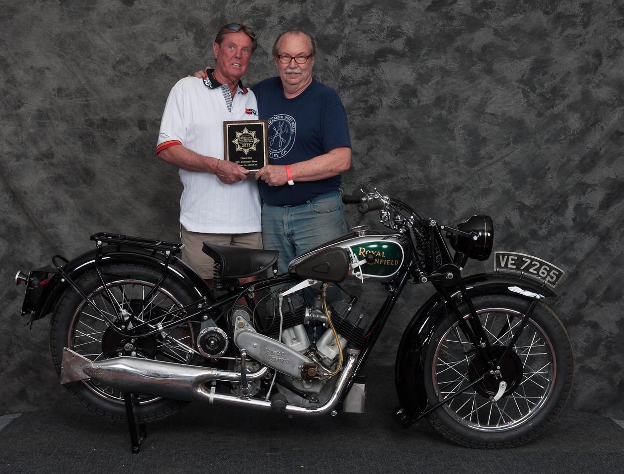 Fred Mork, Winner Oldest Bike Award - 1930 Royal Enfield K1 v-twin