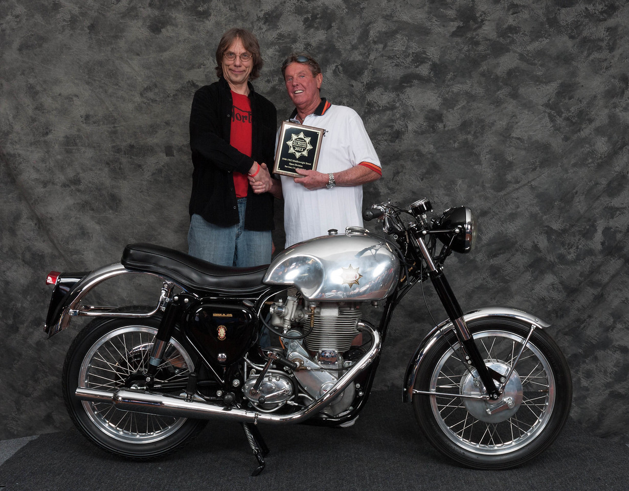 Fred Meyer, Winner of Street Middleweight Open Class 1946-1962- 1957 BSA DB34 Gold Star