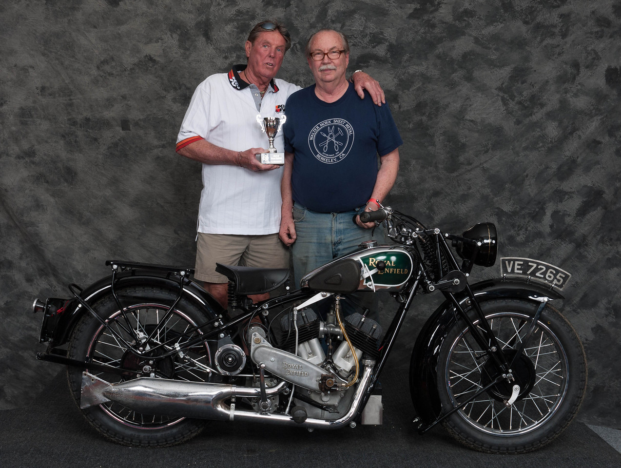Fred Mork, Winner of Best Enfield- 1930 Royal Enfield Model K1 V-twin