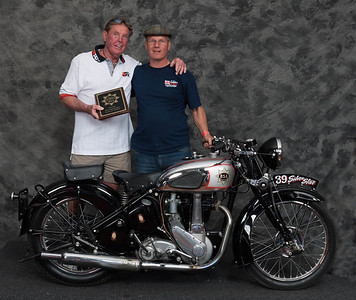 Barry Porter, Winner of Honorable Mention / Silver Star Award - 1939 BSA M23 Silver Star
