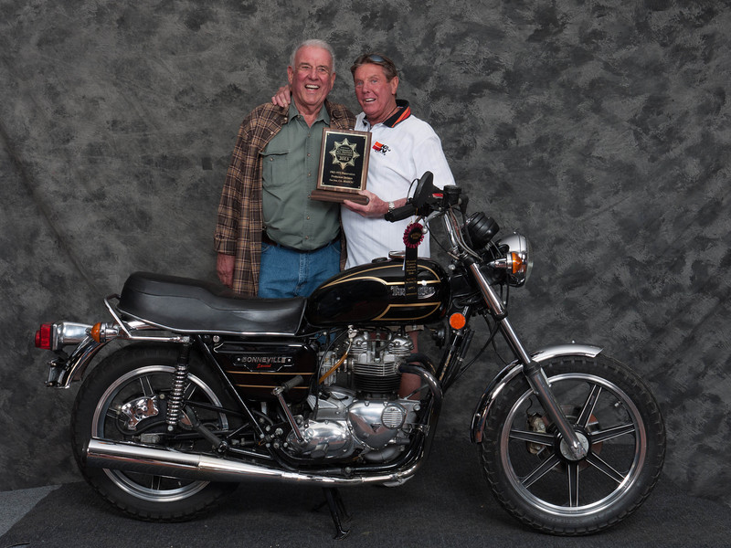 Tom O'Callaghan, Winner of Preservation 1963-1972 Production Class - 1979 Triumph T140D