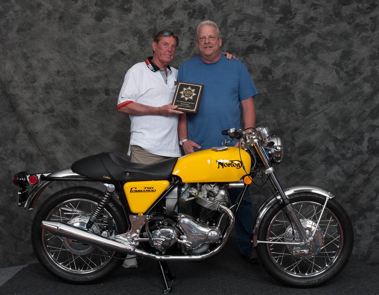 Vincent Shardt, Winner of Street Heavyweight Open Class 1971-1983- 1971 Norton Commando
