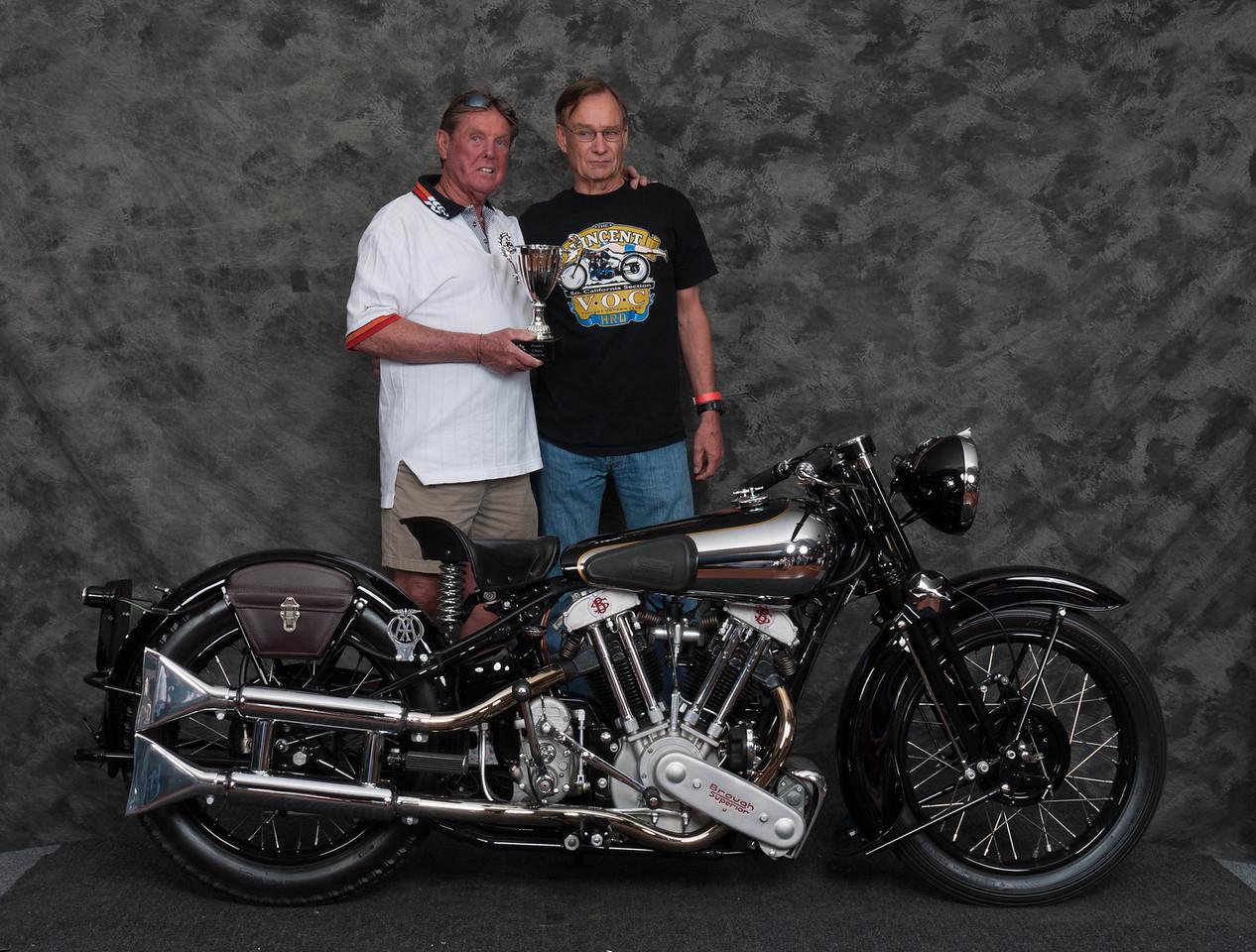 Bob Mitchell, Winner Peoples Choice Award - 1938 Brough-Superior SS100