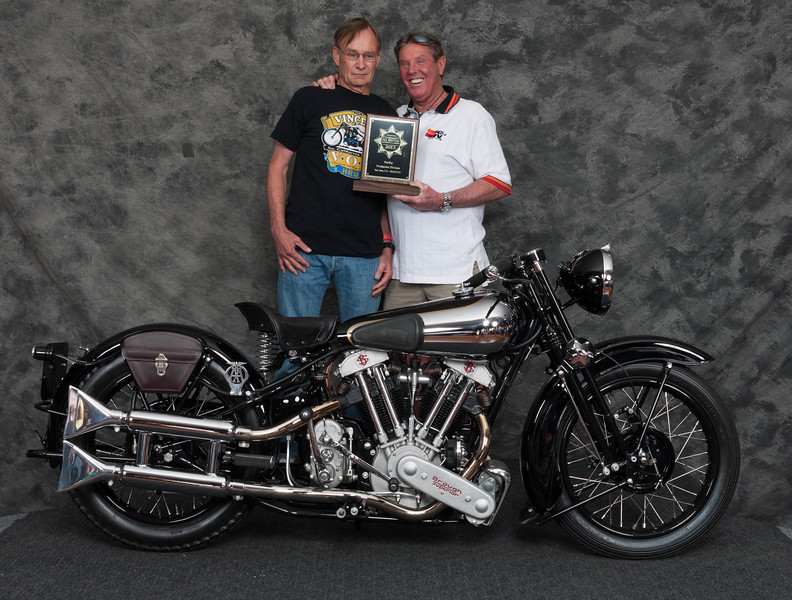 Bob Mitchell, Winner of Pre War Production Class - 1938 Brough-Superior SS100