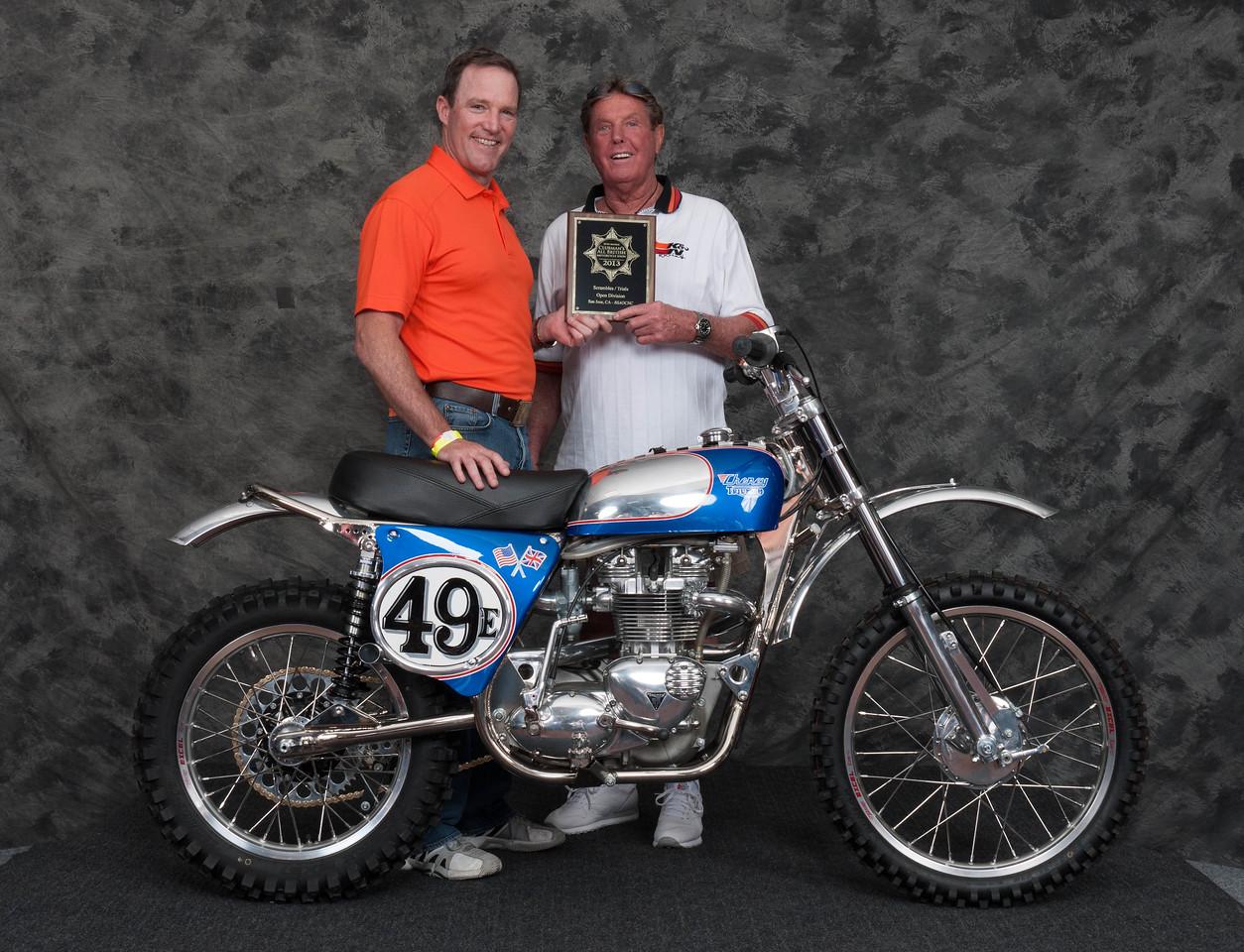 Steve Brinkman, Winner of Scrambles / Trials Open Class - 1969 Triumph - Cheney Triumph 800