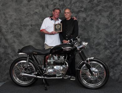 Robert LeRoy, Winner of Cafe Racer Open Class - 1969 Triumph 500 Cafe Racer