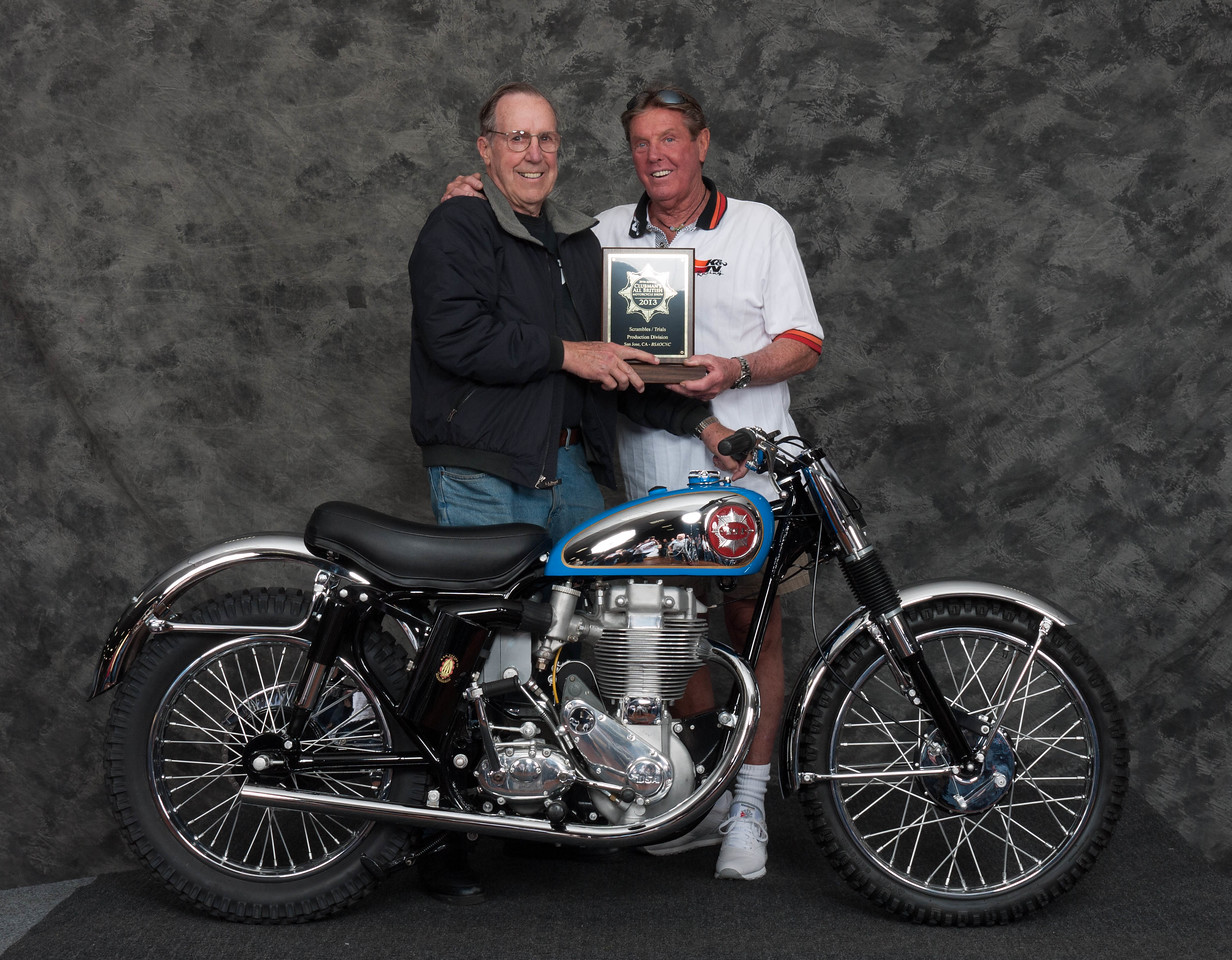 Michael Cunneen, Winner of Scrambles / Trials, Production Class - 1960 BSA  Gold Star Catalina Scrambler