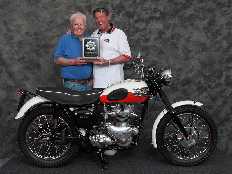 John Niesley, Winner of Street Heavyweight 1946-1962 Production Class - 1957 Triumph TR6 Trophy