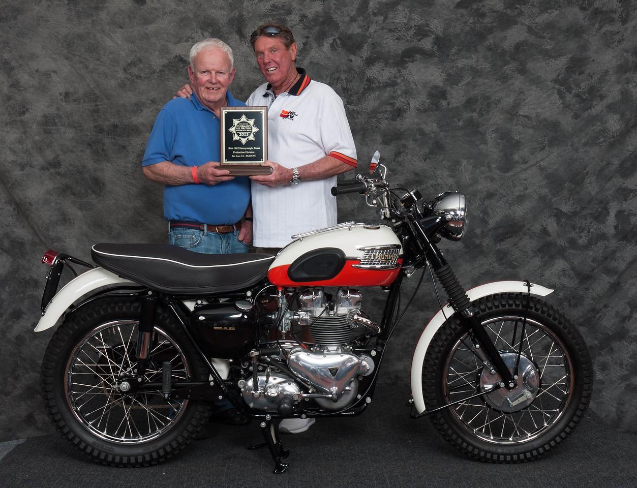 John Niesley, Winner of Street Heavyweight 1946-1962 Production Class - 1957 Triumph TR6 Trophy