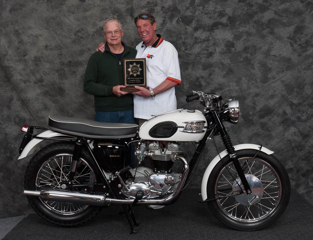 Mike Crick, Winner of Street Heavyweight 1963-1970 Production Class - 1963 Triumph Bonneville