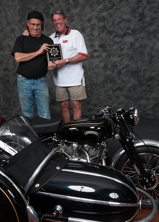 Mitch Talcove, Winner of Street Heavyweight Open Class 1946-1962- 1951 Vincent Rapide Outfit