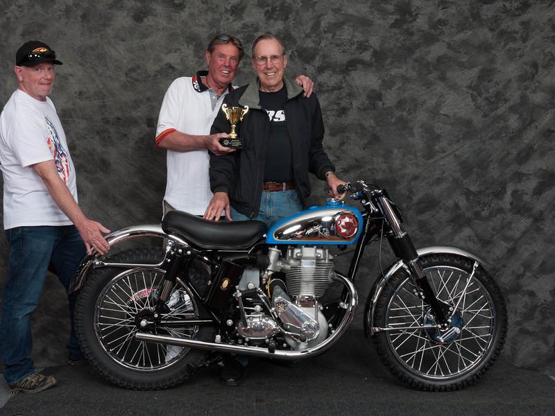 Michael Cuneen, Winner Roland Pike Award  for Best BSA Gold Star- 1960 BSA Gold Star Catalina Scrambler