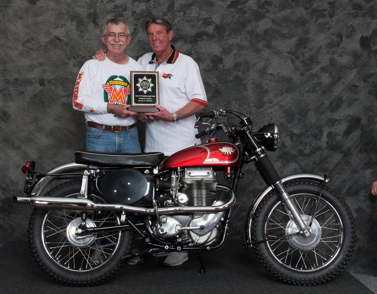 Paul Allen, Winner of Street Middleweight 1963-1970 Production Class - 1967 Matchless G80CS