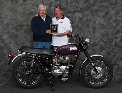 Robert Simeral, Winner of Honorable Mention / Silver Star Award - 1970 Triumph T100C Trophy