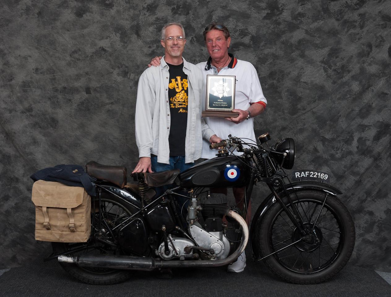Mark Frost, Winner of Military 1900-1983, Production Class - 1942 BSA WM20
