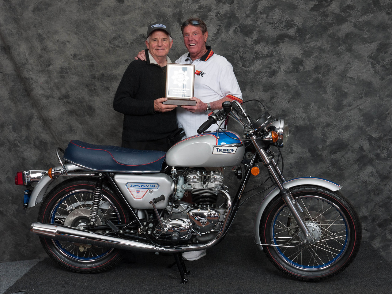 Phillip Fitting, Winner of Street Heavyweight 1971-1983 Production Class - 1977 Triumph Bonneville Silver Jubilee