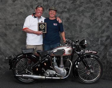 Barry Porter, Winner of Honorable Mention / Silver Star Award - 1939 BSA M23 Silver Star