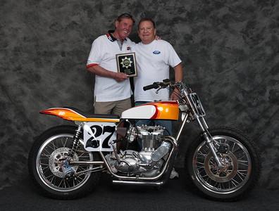 Leonard Baux, Winner of Street Tracker Open Class - 1967 Triumph Bonneville Street Tracker