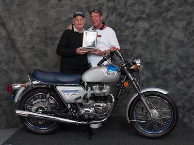 Phillip Fitting, Winner of Street Heavyweight 1971-1983 Production Class - 1977 Triumph Bonneville Silver Jubilee