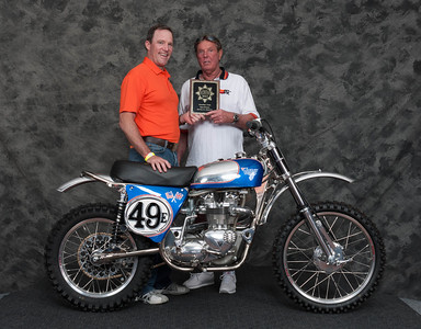 Steve Brinkman, Winner of Scrambles / Trials Open Class - 1969 Triumph - Cheney Triumph 800
