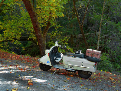 Harley's Heinkel Tourist on Alpine Road