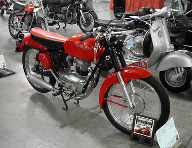 Gilera with trophy plaque