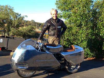 Evan Wilcox & his handmade Ducati bodywork
