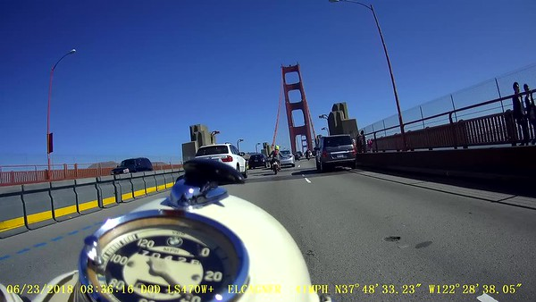 Video: Crossing the Golden Gate bridge (jiggly, silent)