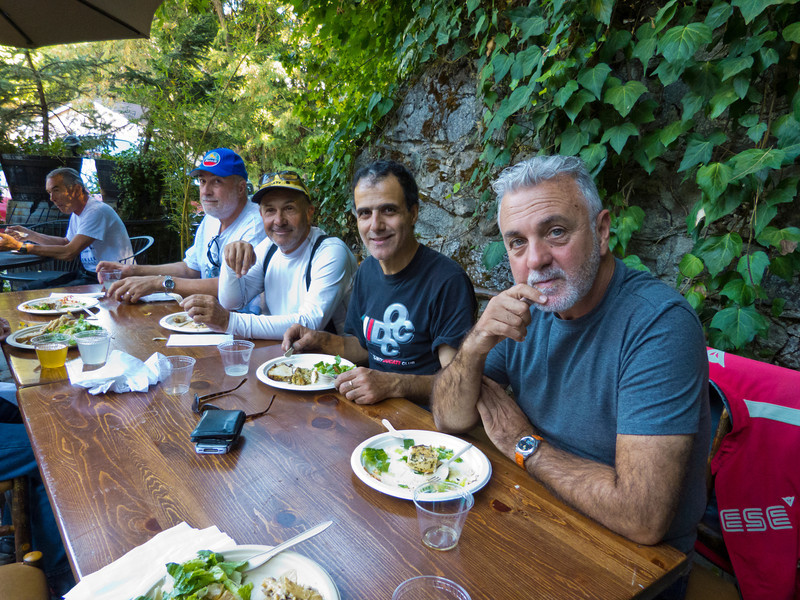 Team Argentina having lunch at The Stone House in Nevada City, CA.