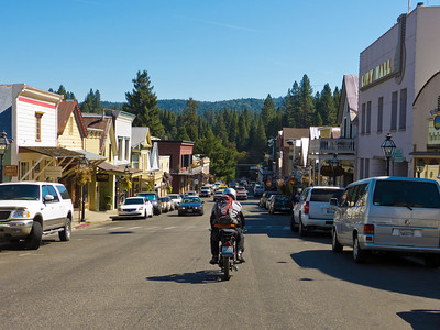 Entering Nevada City, CA