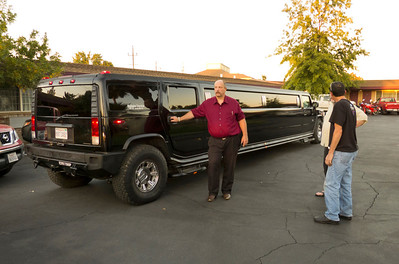 We ride to dinner in style in the Moto Giro d California.
