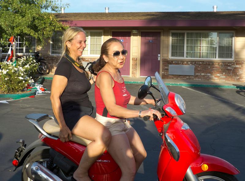 Robin & Margo cruising the lot...
