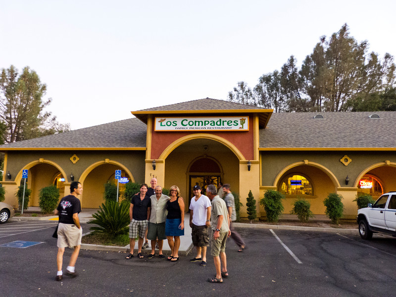 Our dinner stop, Los Compadres in Oroville.
