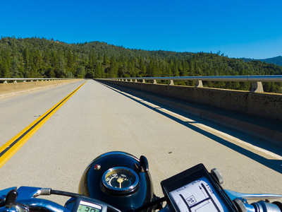 Crossing Lake Oroville on Lumpkin Rd.