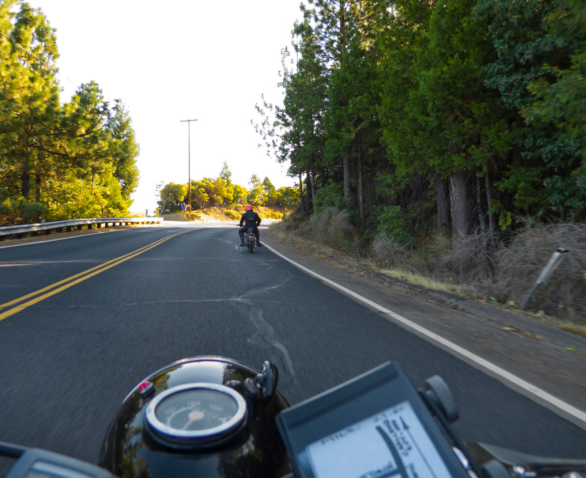 On the Old Olive Highway, following That Dude on That Bike.