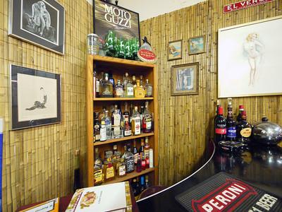The bar at Moto Guzzino
