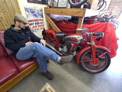 Les and a rare 30's Guzzi