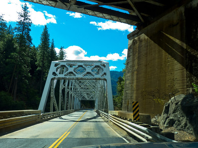 Girder bridge on the Feather River Highway