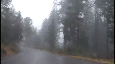Click to see video of what the rain was like on the mountain