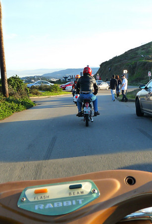 Riding the Bunny down from Twin Peaks