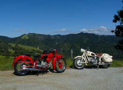 '55 Moto Guzzi and '59 BMW