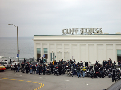 At the Cliff House, AMCA 49 Mile Ride