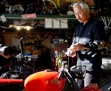 Yoshi working on my Gilera