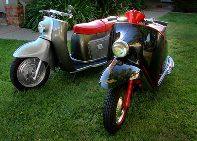 My Maicoletta and Velocette scooters
