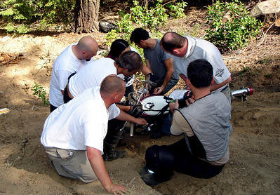 Rescuing The Dube's Suzuki T500 post crash
