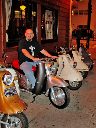 Me on my '57 Maicoletta w other Oddscoots