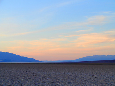 At the lowest elevation in the US, Badwater, Death Valley