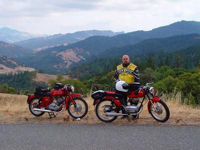 Near Garberville, CA on 50 year old bikes.