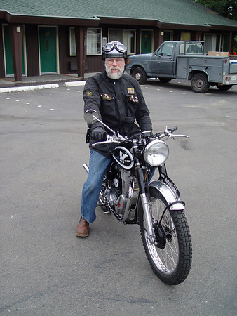 Dennis on his Matchless scrambler