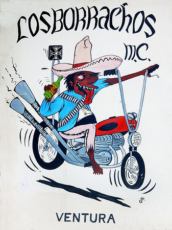 Vintage biker club sign from the 60's